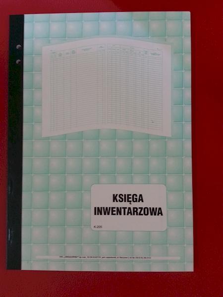 KSIĘGA INWENTARZOWA WYPOSAŻENIA K-205