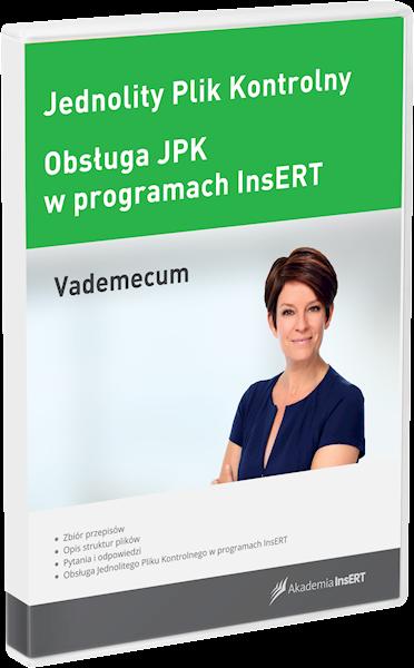 Jednolity Plik Kontrolny - vademecum + Obsługa JPK w programach InsERT