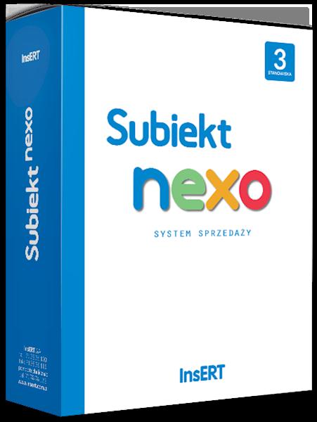 Subiekt nexo (licencja elektroniczna na 3 st.)