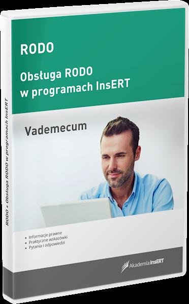 RODO - vademecum + obsługa RODO w programach InsERT (licencja elektroniczna)