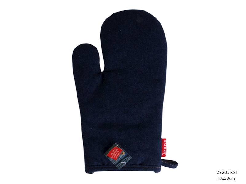 JEANS Rękawica kuchenna, granatowa, 18x30cm / Material glove JEANS 18x30 cm 8712442063155 /  22283951