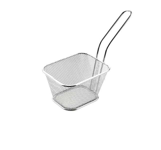 FRYTKI Stalowy koszyk do frytk do frytek z rączką  8,5x6,5x10,5cm / Stainless French fries bascet 8712442095651 / 22275550