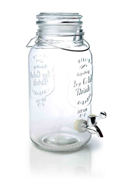 PARTY słoik szklany z kranikiem szklana pokrywa 4 l / Glass jar with tap 4 l glass cover 23468333 / 8712442133995