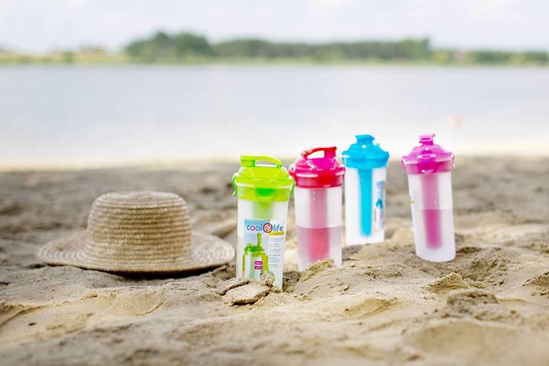 Plastikowa butelka, bidon z wkładem chłodzącym, 4 kolory, 500 ml / Plastic bottle with cooler 500ml 8712442126812 / 24530486