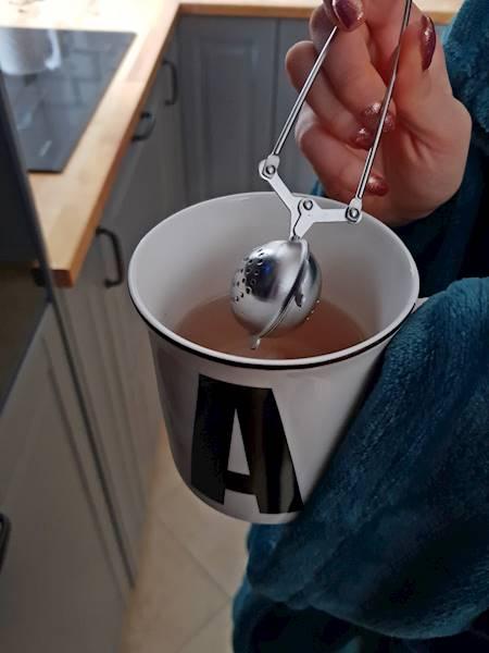 Zaparzacz stalowy  do herbaty ziół w kształcie czajniczka / Stainless steel brewer TeaPot shape 8712442091325 / 22090175