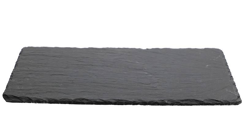 Łupek kamienny- Podstawka/taca do serwowania dań, czarna, 17x34cm / Stone trivet 17x34cm 8712442039273 / 23464646