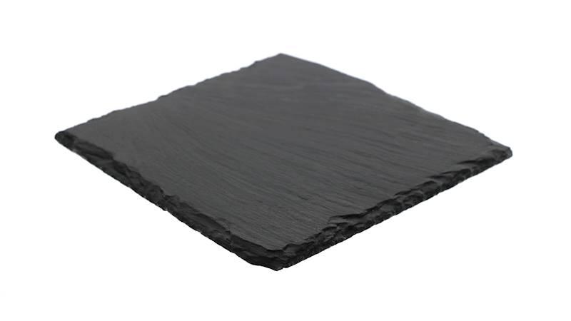 Kamień- Podstawka/taca do serwowania dań, czarna, 17x17cm