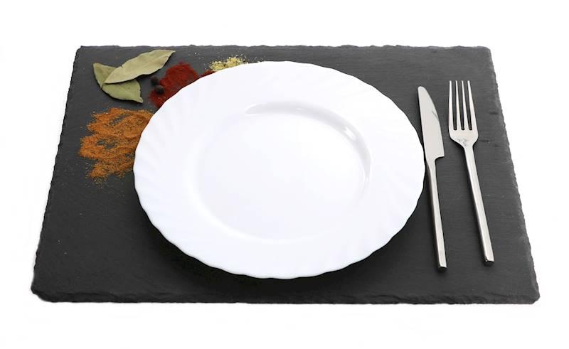 Kamień- Podstawka/taca do serwowania dań, czarna, 30x40cm