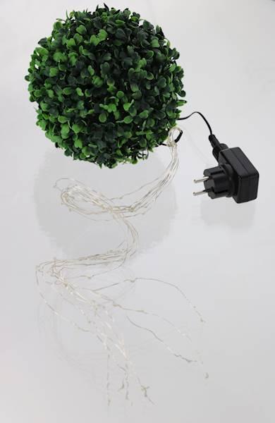 LED drucik 64 diody na 8 drucikach światło ciepłe 230v / LED wirelight set 8 x 8 pcs silver 8712442084815 / 230V 23140235