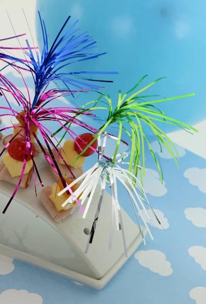 PARTY Patyczki ozdobne do przystawek koktajli, 40szt. / Party Color stick for coctails set 40 pcs 8712442146667 / 22271209