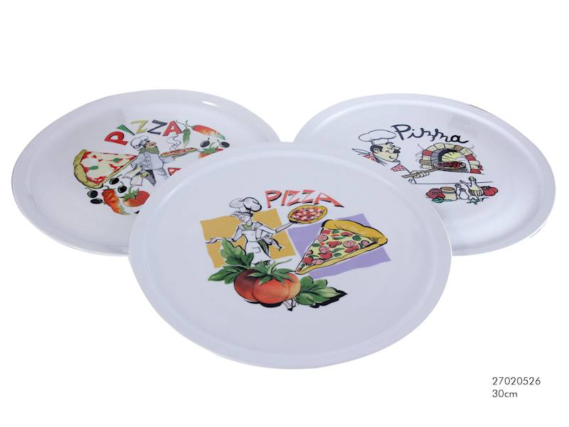 PIZZA- Talerz porcelanowy do pizzy, 3 wzory, 30,5cm