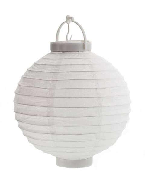 LED lampion papierowy owalny, biały, 20cm / LED Paper ball garden light 20cm 23363339 8712442132455