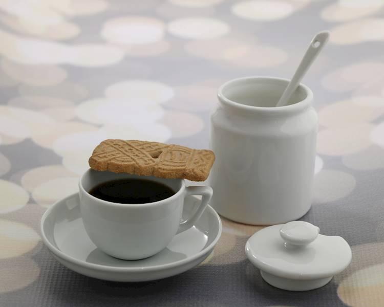 Porcelana- Cukiernica porcelanowa z pokrywką i łyżeczką 180ml / Porcelain sugar pot with lid + spoon 8712442066408 / 24302889
