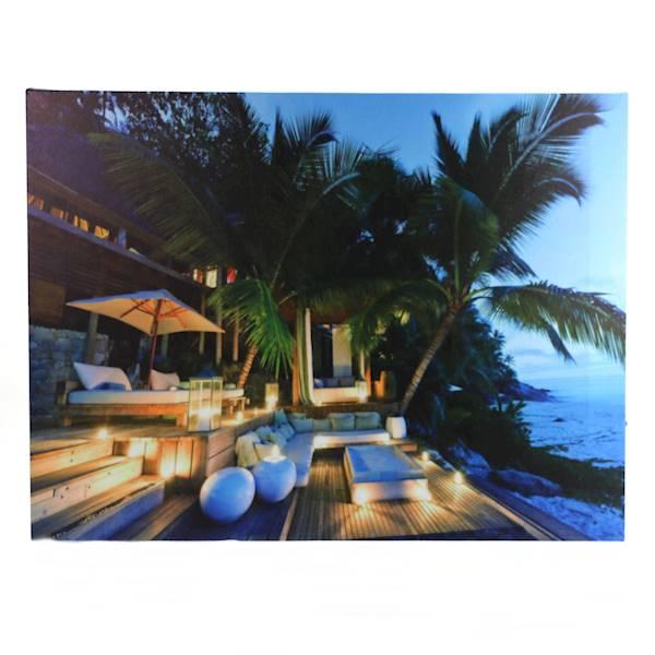 MARINE Obraz 6 LED WAKACJE 40x30x1,5cm