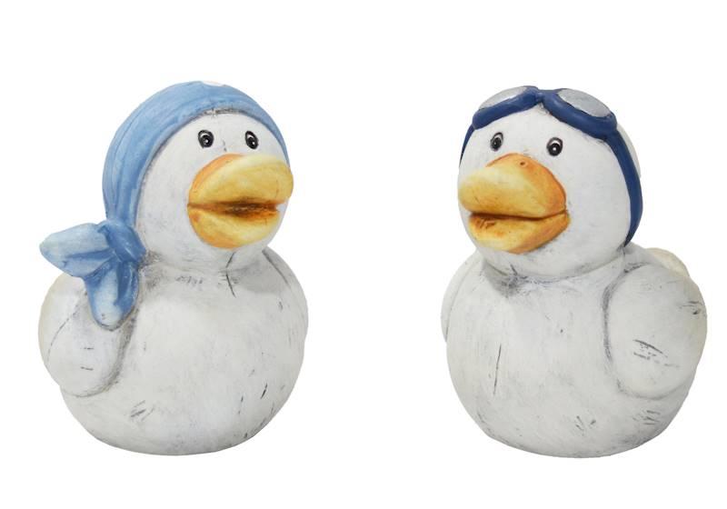 MARINE Dekoracyjna figurka ceramiczna KACZKA, 2 wzory, 7,5x9,5x9,5cm