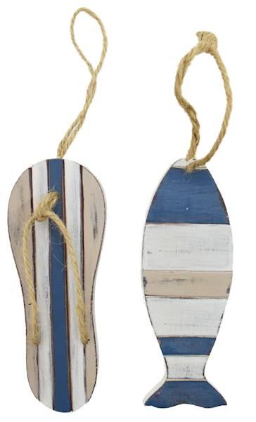 MARINE Zawieszka dekoracyjna, 2 wzory / MARINE Deco wooden pendant, 2 pattern, 4047096792262 / 79226