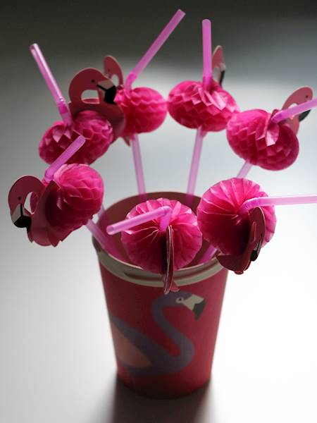 FLAMINGO, słomki do drinków, 10 sztuk / FLAMINGO Plastic Straws set of 10 pcs 4038732770836 / 77083
