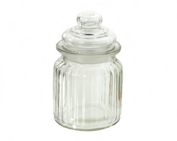 Pojemnik szklany z pokrywką 7,5x12,5 cm / Glass container FOR TEA 7,5x12,5 cm 8712442094715 / 23468015