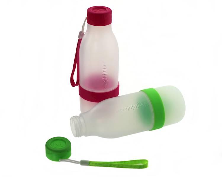 Plastikowa butelka z wyciskarką do cytrusów 2 kolory / Plastic lemon bottle pink, green 8712442153368 / 24531886