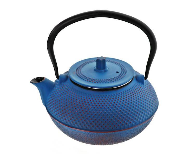ŻELIWO-żeliwny czajniczek w stylu japońskim 1,5l niebieski / Cast iron japanese teapot 1,5L dark blue 8712442159155 / 22170643