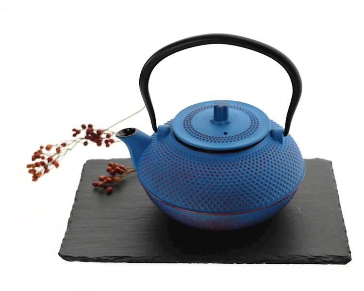 ŻELIWO-żeliwny czajniczek w stylu japońskim 1,5l niebieski