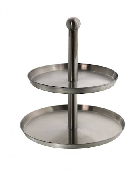 Patera stalowa 2 poziomowa / Stainless steel plateau 2 layers 8711576118236