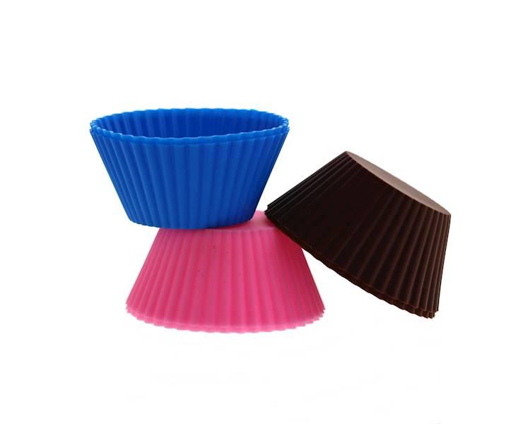 Foremki silikonowe do muffinek 6 sztuk