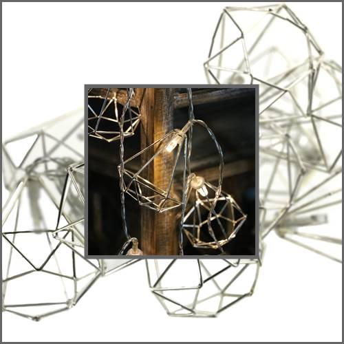 Lampki ledowe diamenty przestrzenne 10 diod / LED Diamenty metal 8712442164364 / 23120657