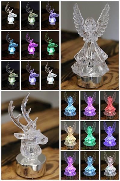 LEDowe figurki dekoracyjnr renifer/anioł