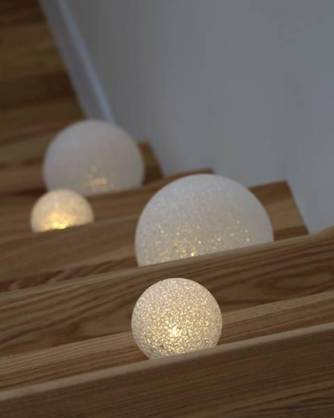 LED kula silikonowa ciepłe światło 12 cm / LED Eva ball warm 12 cm AAA 8712442143413 / 23159219
