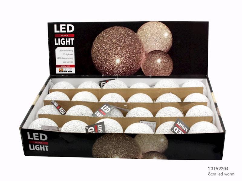 LED Eva ball warm 8 cm 23159204