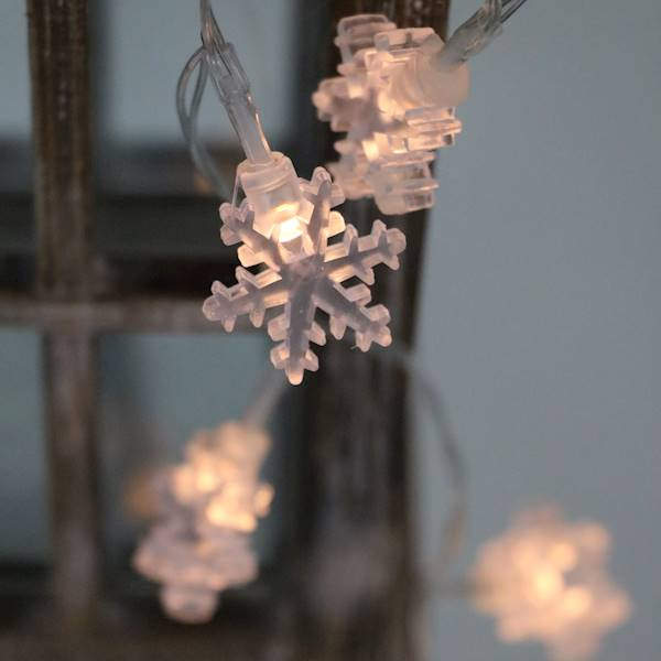 Ledowe lampki śnieżynki 10 diod
