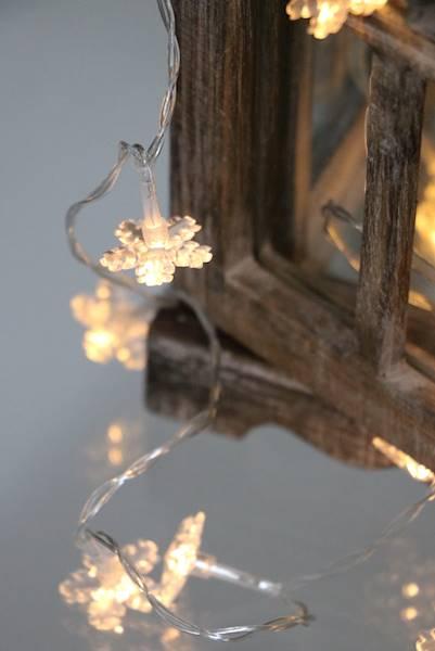 Lampki ledowe śnieżynki 20 diod / LED Snowflake 20 pcs warm led 8712442070849 / 23120165