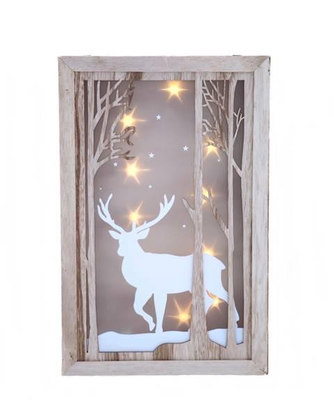 LED Obraz witraż 40x26 cm / LED Wall plaque deer 40cm 8712442162124 / 23102407
