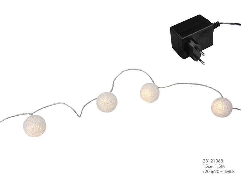 Ledowe lampki kulki 20 diod
