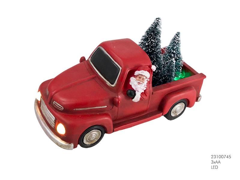 LED Samochód dekoracyjny ze światłami led / LED XMAS Santa Truck 23100745 8712442160076
