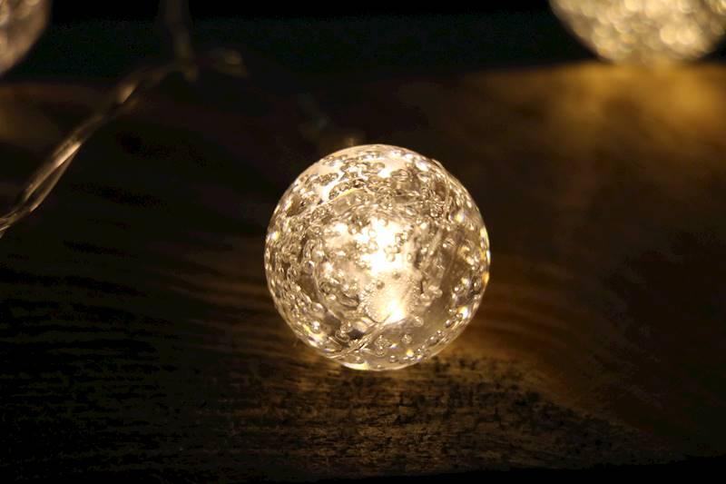 Ledowe lampki akrylowe kulki 10 diod