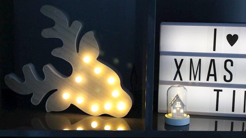 LED figurka renifer 10 diod / LED XMAS wooden Elk head 10 led 2 design 8712442160397 / 23102679
