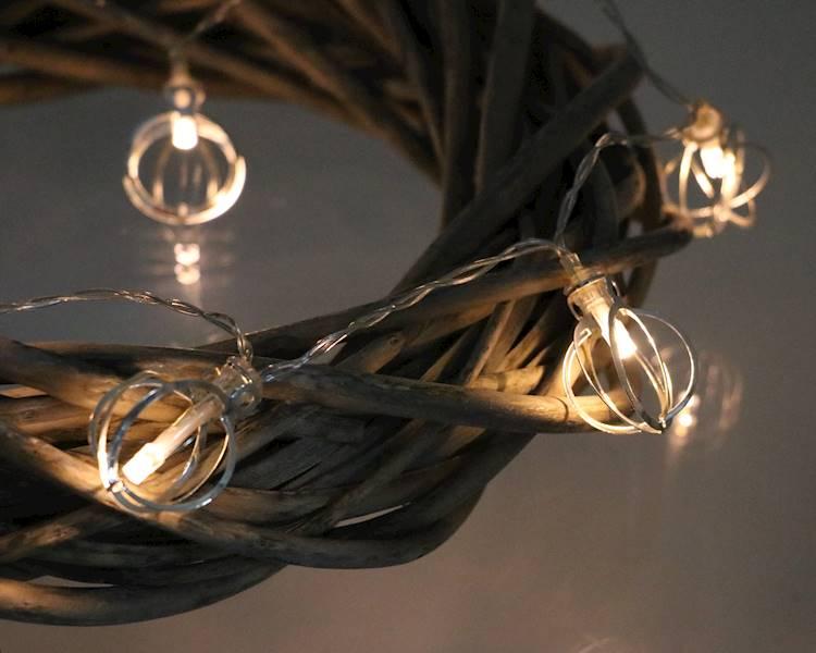 Lampki ledowe orbita 10 diod / LED Ball metal silver 10 pcs warm light 8712442167273 / 23120673