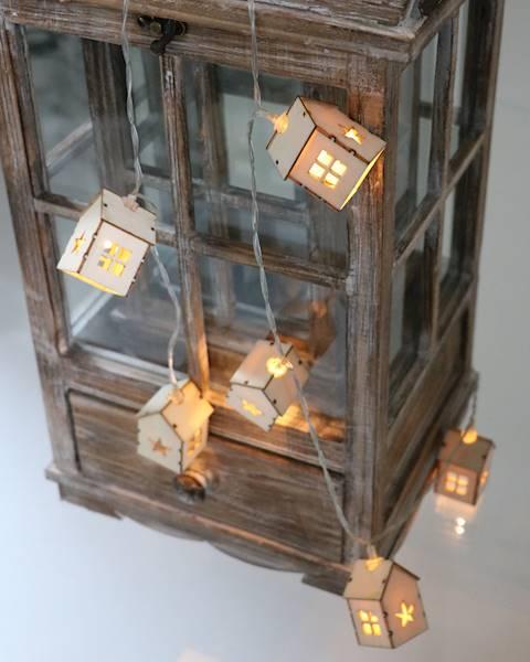 Lampki ledowe drewniane domki 10 diod / LED Hause wooden 10 pcs 8712442143666 / 23121274