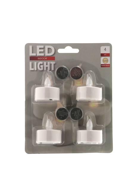 LED świeczki tealight  plastikowe 4 szt / LED tealight candle set white 4 pcs 8712442058731 / 23140611