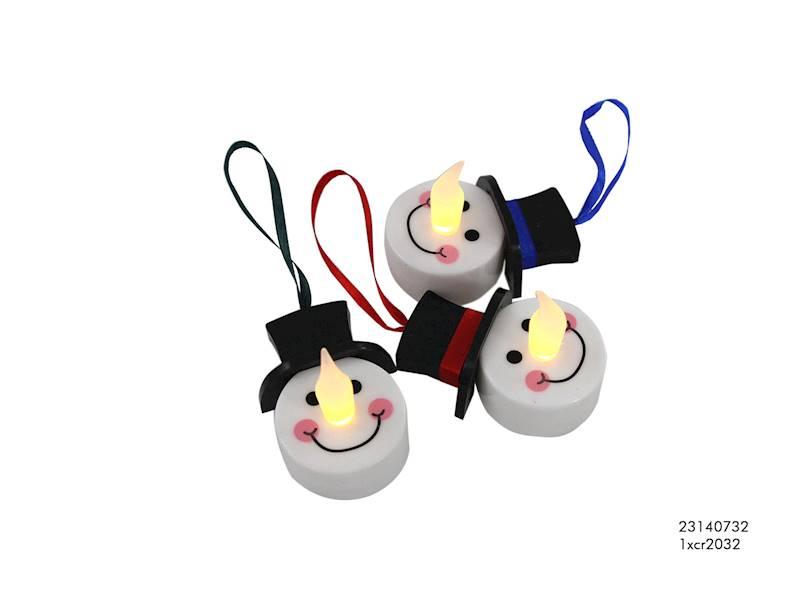 LED świeczka Tealight bałwanek / LED Tealight snowman 8712442121336 / 23140732