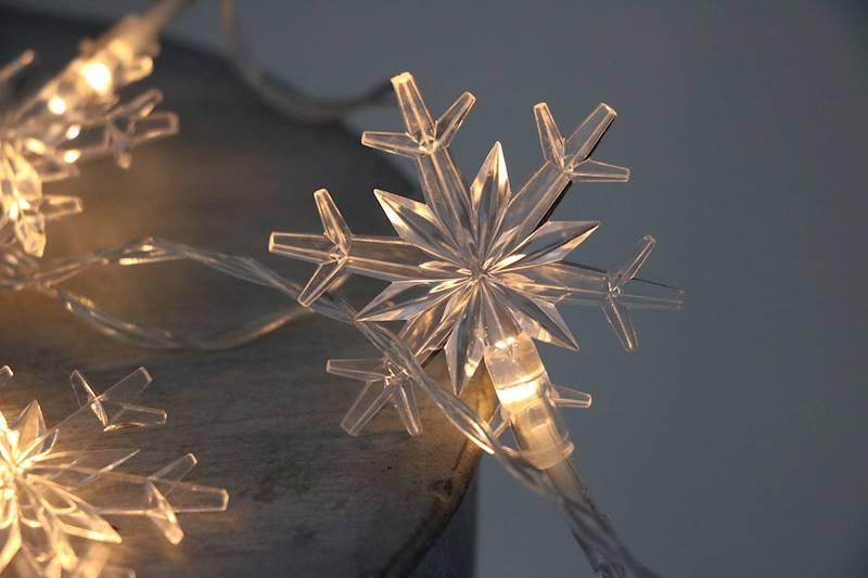 Lampki ledowe śnieżynki 10 diod / LED Snowflake warm 10 pcs 8712442118398 / 23121331