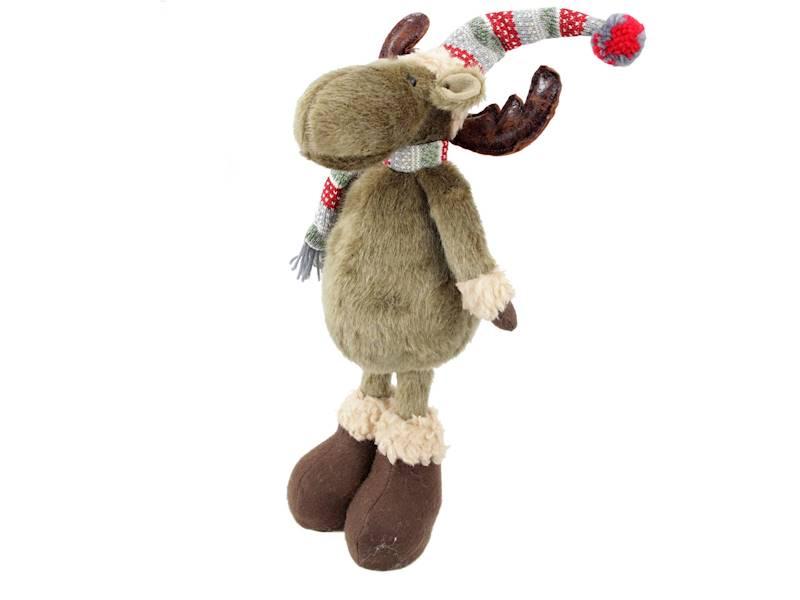 """Xmas Łoś dekoracyjny 45 cm / Deco Xmas Deer 18"""" standing 23098312 8712442139799"""