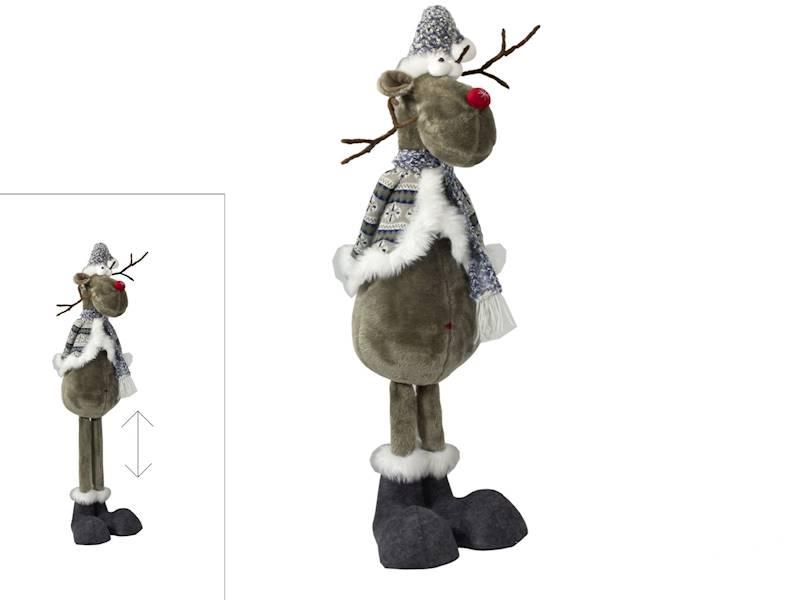 Xmas Łoś dekoracyjny regulowana wysokość do 165 cm / Deco Xmas Deer 165cm standing flex BLUE 23098206 8712442165767