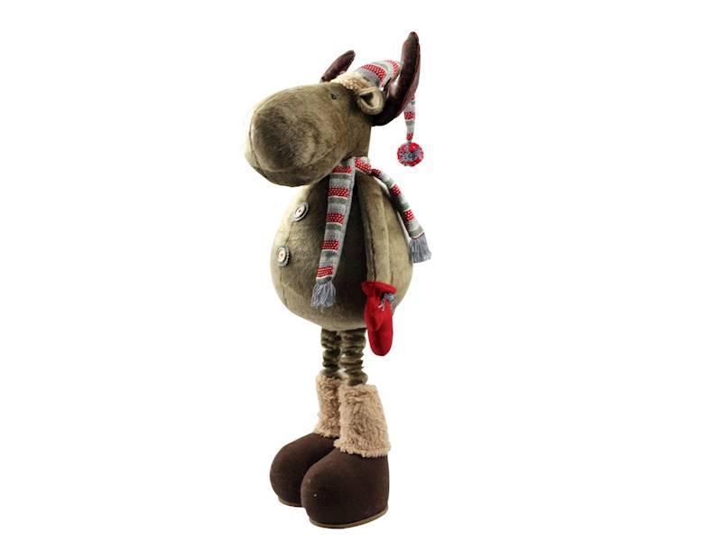 Xmas Łoś dekoracyjny regulowana wysokość do 150 cm / Deco Xmas Deer 150 cm standing flex 23098360 8712442139898