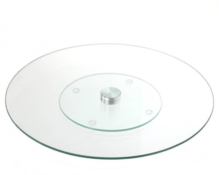 Patera szklana na niskiej nóżce 30 cm / Glass cake plate stand 30 cm LAZY SUSAN 8712442094593 / 22170700