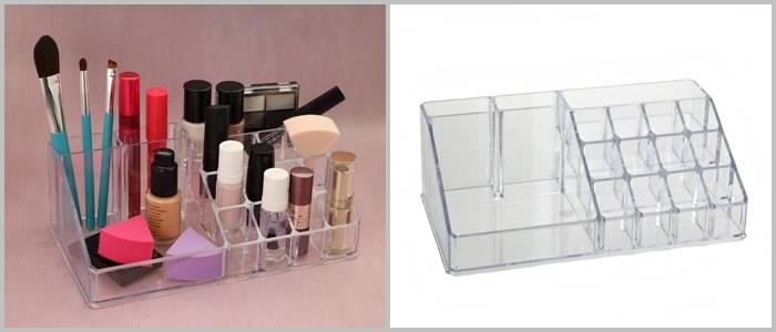 BEAUTY Pojemnik na lakiery szminki organizer 22 cm / Bathroom Beauty Box lipstic big 22x13 cm 8712442093190 /  24530930