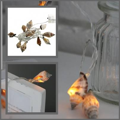 Lampki ledowe muszelki 10 szt / LED SUMMER shell warm 10 pcs 8712442952336 / 23362279