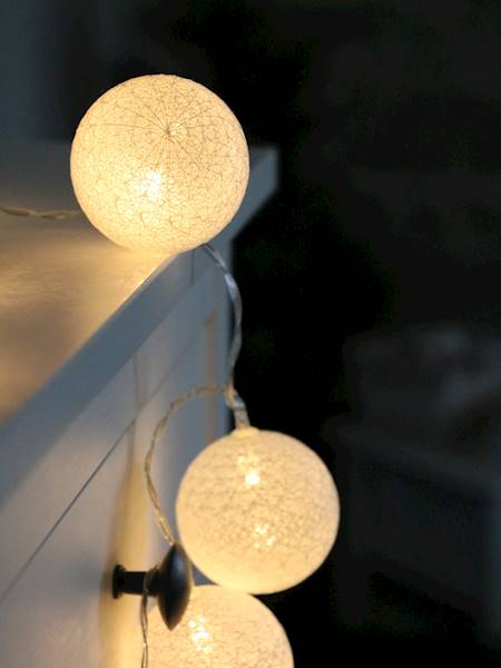 LED Cottonball white 10x BATERY 23362546